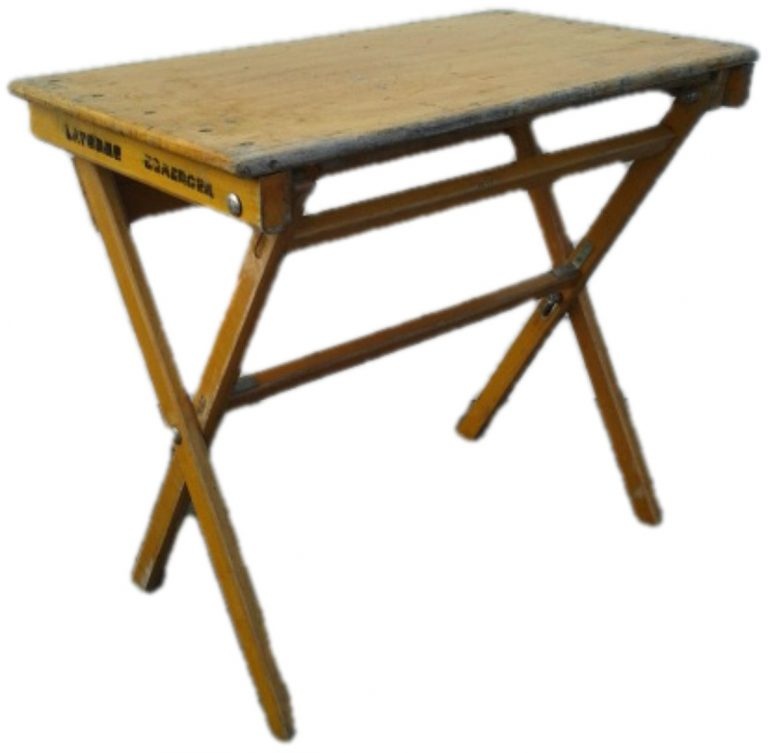houten klaptafel wit
